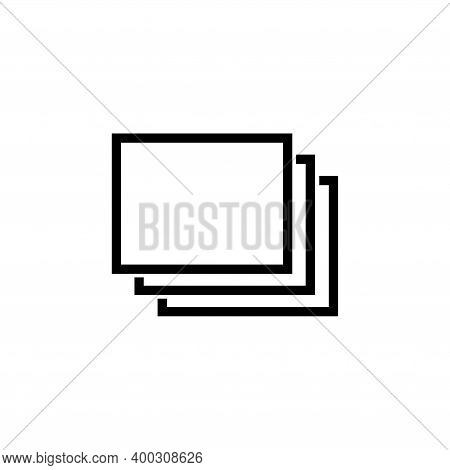 Stacked Layers, Favourite Overlay Layer. Flat Vector Icon Illustration. Simple Black Symbol On White