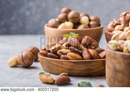 Brazil  Or Amazon Nuts,  Toquei Or Tururi, Very Abundant In Northern Brazil And Bolivia.assortment O