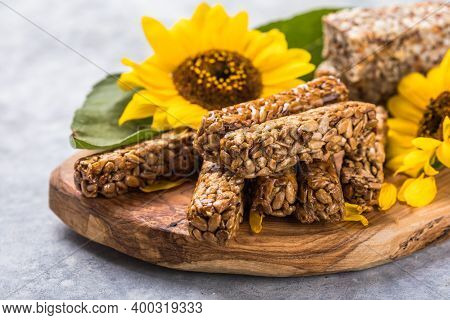 Kozinaki With Seeds, Nuts, With Honey. Useful Snacks. Fitness Nutrition, Nutritious Snack, Energy Ba