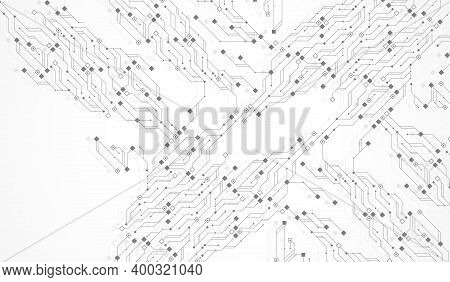 Circuit Board Design Background. Abstract Communication Circuit Board Technology Background With Hi-