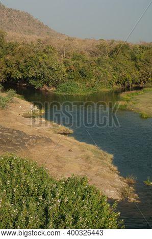 Hiran River As It Passes Through Sasan. Gir Sanctuary. Gujarat. India.