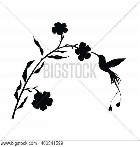 Bird Logo. Flower Anthers Art Logo Icon. Modern Bird Logo Design Contest. Nature Bird Logo Illustrat