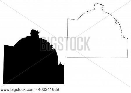 Lincoln County, State Of Tennessee (u.s. County, United States Of America, Usa, U.s., Us) Map Vector