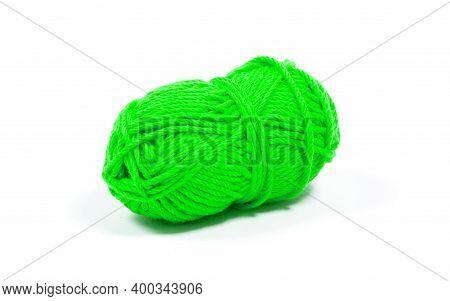 Hank Of Wool Yarn, Isolated On White