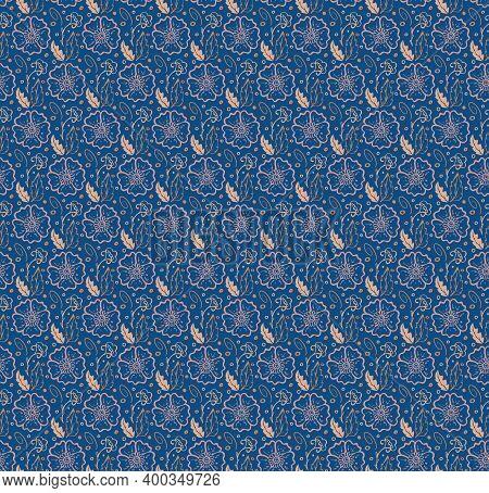 Ornamental Floral Seamless Pattern. Hand Drawn Graphic Design, Nature Folklore Flourish, Leaves, Ori