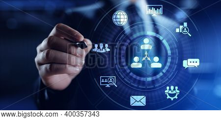 Crm Customer Relationship Management Business Sales Marketing Technology Concept.