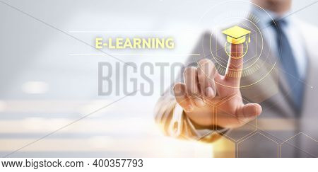 E-learning Online Education Business Internet Concept On Screen.