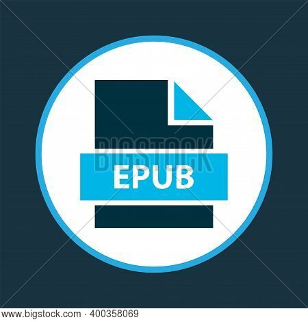 File Epub Icon Colored Symbol. Premium Quality Isolated Electronic Publication Element In Trendy Sty