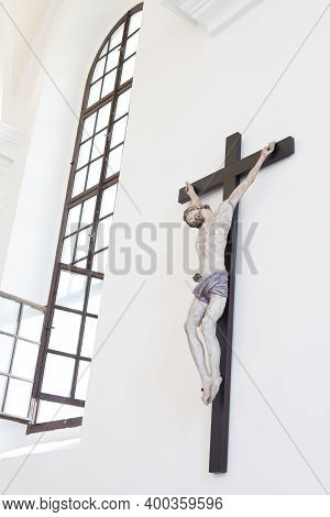 Vilnius, Lithuania - July 15, 2017: Detail Of The Interior Of A Chapel In The Church Of St. Francis