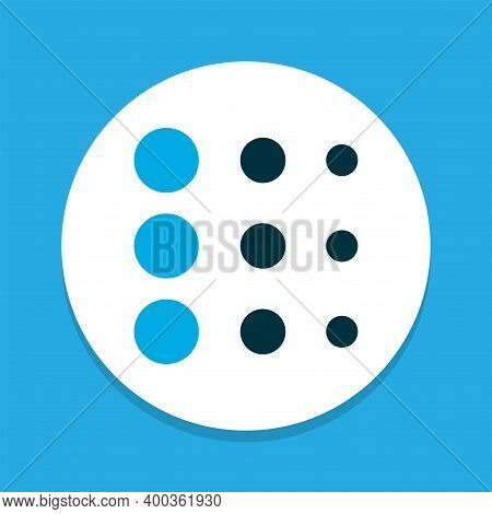 Blur Icon Colored Symbol. Premium Quality Isolated Circle Element In Trendy Style.