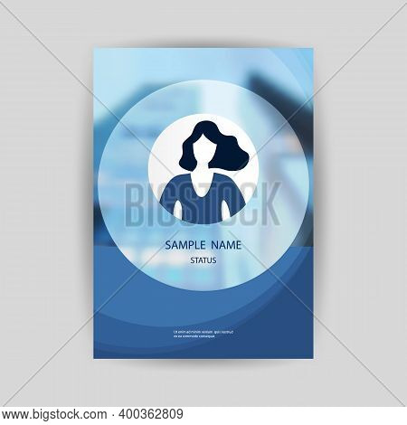 Blue And White Modern Style Flyer Or Cover Design For Your Business With Blurred Urban Theme - Appli