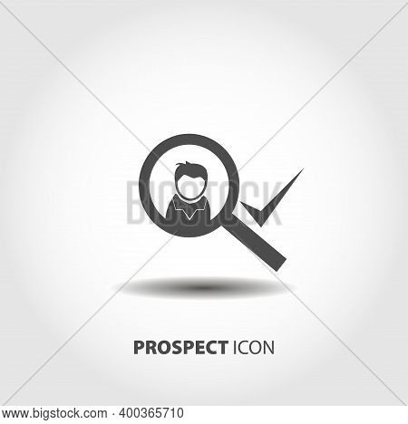 Prospect Worker Icon. Worker Choice Isolated Vector Icon. Business Design Element