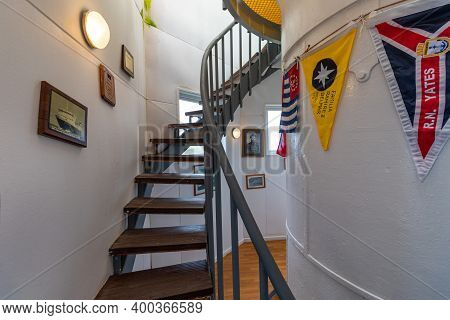 Antarctica - December 05, 2016. Interior Of Lighthouse At Cape Horn - The Southernmost Point Of The