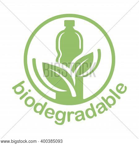 Biodegradable Sticker - Plastic Bottle Turns To Plant Branch - Eco Friendly Compostable Material Pro