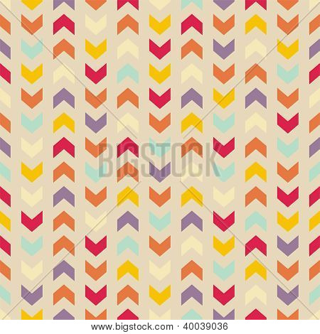 Aztec Chevron vector seamless colorful pattern, texture or background with zigzag stripes.