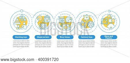 Toys For Early Child Development Vector Infographic Template. Childcare Presentation Design Elements