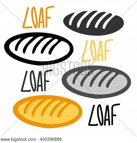 Isolated Vector Illustration Set Design Of Fresh Baked Loaves Of Loaves Bread