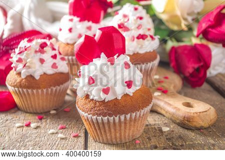 Cupcake With Heart For Valentines