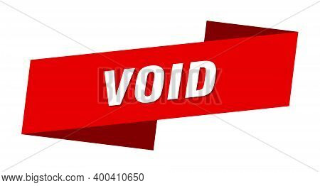 Void Banner Template. Void Ribbon Label Sign