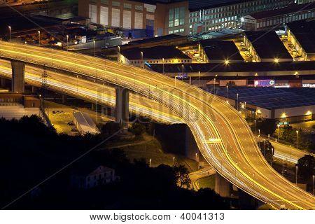 Motorway, Trapaga, Bizkaia, Basque Country, Spain