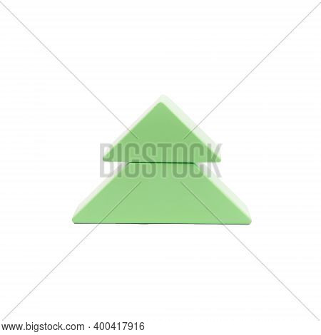 Abstract Green Christmas Tree. Wooden Christmas Tree. Childrens Wooden Construction Kit. Toys Made O