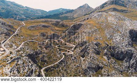 The Serpentine In The Mountain Road, The Knotted Tie - Nudo De Corbata, Serra De Tramuntana, Mallorc
