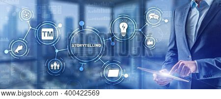 Storytelling. Story Telling Education And Literature Business Concept. Ability To Tell Stories.