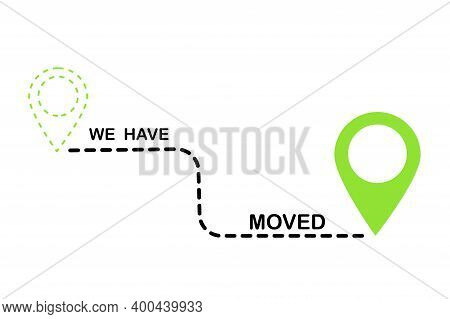 Have Moved Route In 3d Style. Vector Icon. Doodle Have Moved Route. Stock Image.