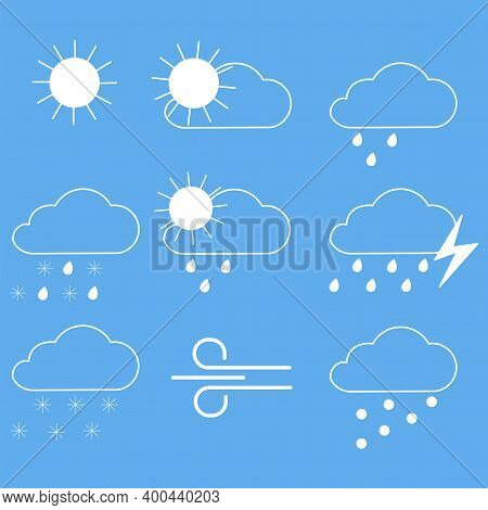 Weather, Great Design For Any Purposes. Weather Forecast Widget. Outline Symbol. Stock Image.