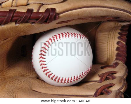 Baseball And Glove Close-up