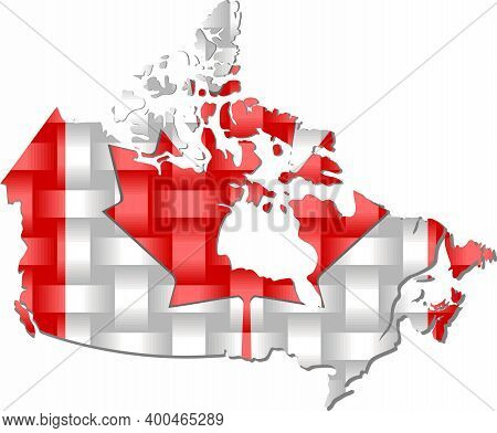 Canada Map - Illustration,  Three Dimensional Map Of Canada