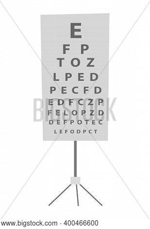 Snellen Hart Vector Illustration. Equipment For Examination Of Eyesight Isolated On White Background