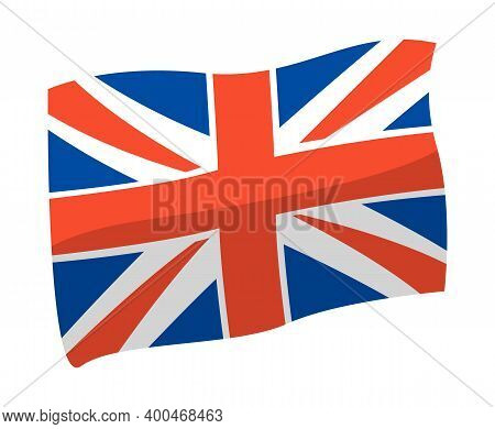 United Kingdom Flag Vector Illustration. Great Britain Flag Isolated On White Background. National S