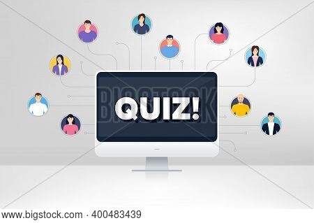Quiz Symbol. Remote Team Work Conference. Answer Question Sign. Examination Test. Online Remote Lear