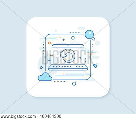 Recovery Info Line Icon. Abstract Vector Button. Backup Data Sign. Restore Information Symbol. Recov