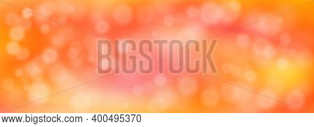 Abstract Orange Blurred Background With Bokeh. Vector Illustration For Birthday, Wedding, Party, Val