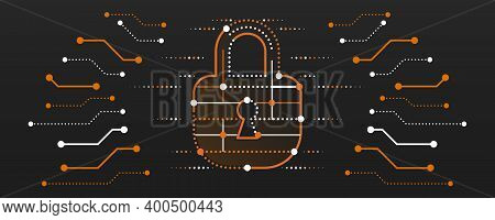 Vector Illustration Of A Data Security Services. Data Protection, Privacy, And Internet Security Con