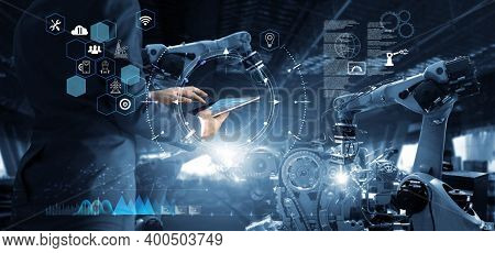 3d Rendering Futuristic Robot Technology Development, Artificial Intelligence Ai, And Machine Learni