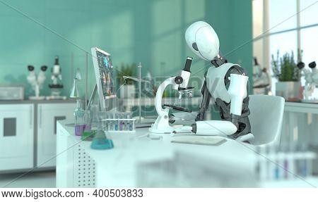 3d Rendering Futuristic Robot Technology Development, Artificial Intelligence Ai, And Machine Learni