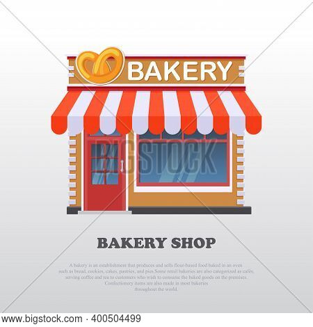 Vector Illustration Of A Bakery And Cake. Suitable For Design Elements From Promotion Of Food Produc