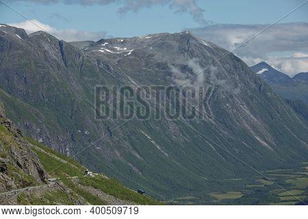 View Of Trollstigen Or Trolls Path Which Is A Serpentine Mountain Road In Norway