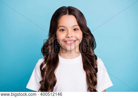 Close-up Portrait Of Her She Nice Attractive Lovely Pretty Cute Cheerful Cheery Wavy-haired Girl Wea