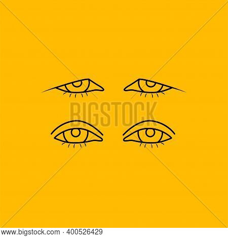 Upper Eyelid Blepharoplasty Before And After, Comparison