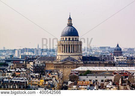 Paris Skyline With Panteon Building. Paris, France.