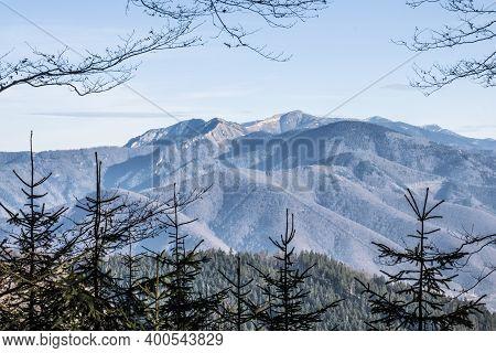 Little Fatra Mountain Scenery, Slovak Republic. Hiking Theme. Seasonal Natural Scene.