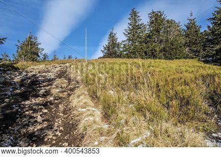 Mincol Hill, Little Fatra Mountains, Slovak Republic. Hiking Theme. Seasonal Natural Scene.