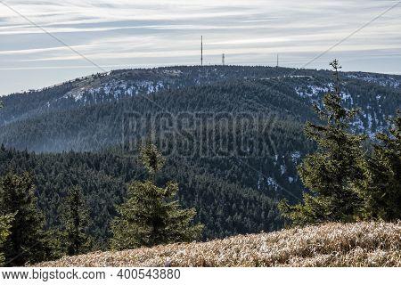 Martinske Hole From Mincol Hill, Little Fatra Mountains, Slovak Republic. Hiking Theme. Seasonal Nat