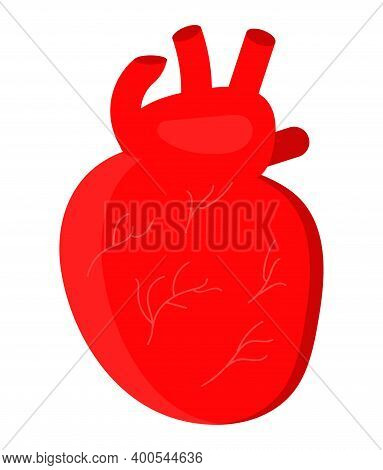 Heart Icon Vector For Medical Website, App. Hypo-tension And Hypertension Disease. Simple Health Car