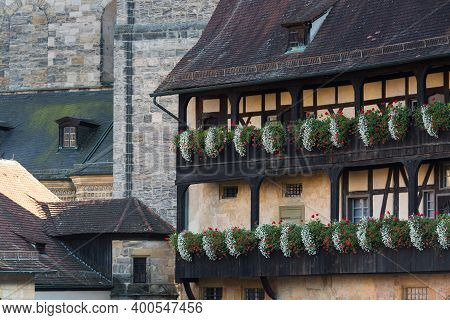 Bamberg, Bavaria, Germany - 16.10.2016: Old Town Of Bamberg Historic Street And Architecture View, U