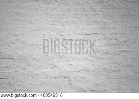 Dark Ultimate Gray Brick Wall Background, Old Grey Stone Brickwork Plaster Texture, Grunge White Cle
